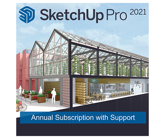SketchUp Pro 2021 1-Year Single-User Licence