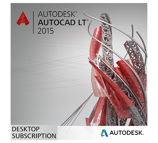 AutoCAD LT 2015 Annual Desktop Subscription (Rental) with Basic Support