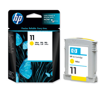 HP No.11 Ink Cartridge Yellow 28ml (C4838A)