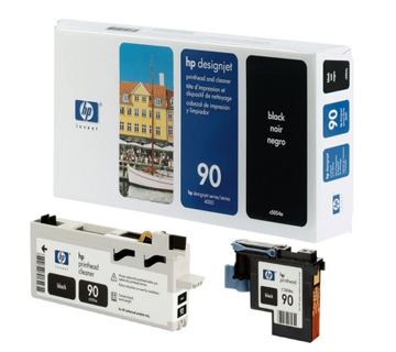 HP No 90 Printhead & Cleaner Black (Dye) (C5054A)