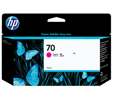 HP No.70 Ink Cartridge Magenta 130ml (Vivera) (C9453A)