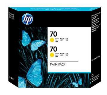 HP No.70 Ink Cartridge Yellow 130ml x 2 (Vivera) (CB345A)