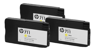 HP 711 CZ136A Yellow cartridge  29ml 3-pack T120 T520