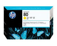 HP No.80 Ink Cartridge Yellow 350ml (Dye) (C4848A)
