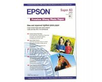 Epson Premium Glossy Photo Paper (255gsm) A3+ - 20 Sheets - (C13S041316)