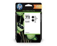 HP No.711 Value Pack of 2 Ink Cartridge Black 80ml T125 T130 T525 T530