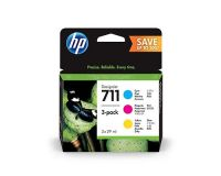 HP No.711 3-Ink Cyan-Magenta-Yellow Value Multipack - 28ml Cartridge x 3 - T125 T130 T525 T530