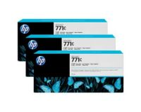 HP No.771 ink Cartridge Photo Black - 3 Ink Multipack - 775ml (B6Y37A Replacment for CR256A)