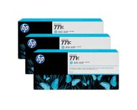HP No.771 Ink Cartridge Light Cyan - 3 Ink Multipack - 775ml (B6Y36A Replacment for CR255A)
