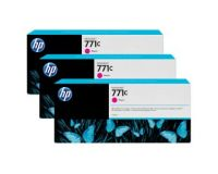 HP No.771 Ink Cartridge Magenta - 3 Ink Multipack - 775ml (B6Y33A Replacment for CR252A)