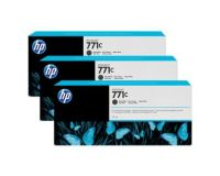 HP No.771 Ink Cartridge Matte Black - 3 Ink Multipack - 775ml (B6Y31A Replacment for CR250A)