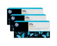HP No.771 Ink Cartridge Yellow - 3 Ink Multipack - 775ml (B6Y34A Replacment for CR253A)