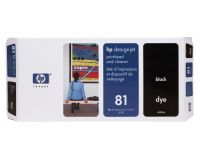 HP No.81 Printhead & Cleaner Black (Dye) (C4950A)