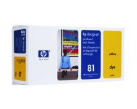 HP No.81 Printhead & Cleaner Yellow (Dye) (C4953A)