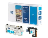 HP No.90 Printhead & Cleaner Cyan (Dye) (C5055A)