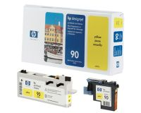 HP No.90 Printhead & Cleaner Yellow (Dye) (C5057A)