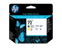 HP No.72 Printhead Matte Black & Yellow (Vivera) (C9384A)