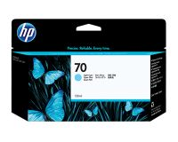 HP No.70 Ink Cartridge Light Cyan 130ml (Vivera) (C9390A)