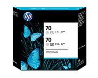 HP No.70 Ink Cartridge Light Grey 130ml x 2 (Vivera) (CB342A)