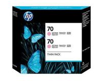 HP No.70 Ink Cartridge Light Magenta 130ml x 2 (Vivera) (CB346A)