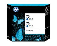 HP No.70 Ink Cartridge Blue 130ml x 2 (Vivera) (CB349A)