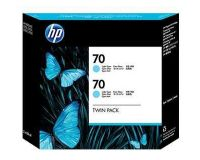 HP No.70 Ink Cartridge Light Cyan 130ml x 2 (Vivera) (CB351A)