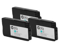 HP 711 CZ134A Cyan cartridge  29ml 3-pack T125 T130 T525 T530
