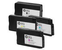 HP 711 T125 T130 T525 T530 Cartridges Value pack - Full Set - 1 x 38ml Black  3 x 29ml Colours