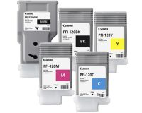 Canon TM200 TM205 TM300 TM305 1 x PFI-320MBK - 4 x PFI-120 Cartridges Mixed Value Pack - Full set of inks